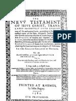 The Douai-Rheims Bible - Original - New Testament 1582