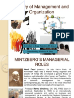 Theory of Management and Organization