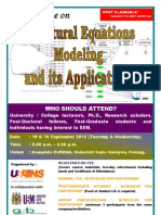 Structural Equation Modelling and its Application