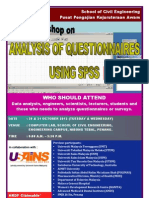 Analysis of Questionnaires Using SPSS October 2012
