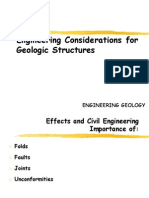 Engineering Considerations for Geologic Structures