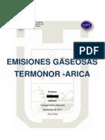 Termoelectrica Termonor Arica - EMISIONES GASEOSAS
