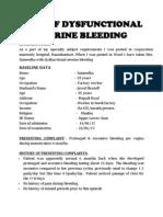 Dysfunctional Uterine Bleeding History Collection