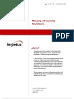 Managing Self-organizing SCRUM Teams- Impetus White Paper