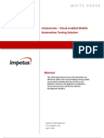 mAutomate– Cloud enabled Mobile Automation Testing Solution- Impetus White Paper