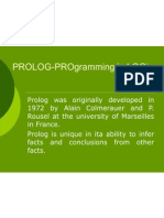 PROLOG-PROgramming in LOGic