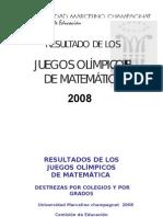 Olimpiadas de Matemáticas Colegios Maristas Del Perú 2008