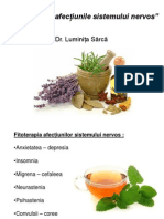 Fitoterapia in afectiunile sistemului nervos