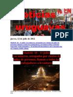 Noticias Uruguayas Jueves 12 de Julio Del 2012