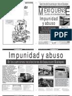 Versión impresa del periódico El mexiquense 12 julio 2012