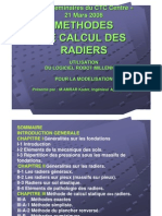 Methodes de Calcul de Radiers