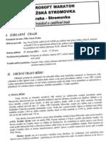 Microsoft maraton pražská stromovka - protokol o změření trati
