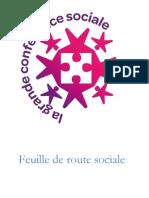 Feuille de Route Grande Conference Sociale
