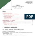 Clase01 - Preliminares matemáticos