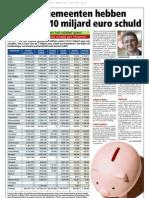 HBVL 12/07/'12 - Meer dan 10 miljard euro schuld voor Vlaamse gemeenten