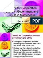 Council for Cooperation Montenegro, BCSDN Regional Workshop 4 July 2012
