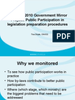 Public Participation in Legislation Procedures Slovenia, BCSDN Workshop 4 July 2012