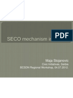 SECO Mechanism Serbia, BCSDN Regional Workshop 4 July 2012