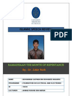 Islamic Speech Review UTP (Dr. Zakir Naik)