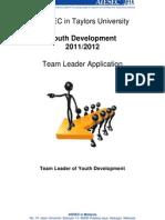 YD1112 Team Leader Application