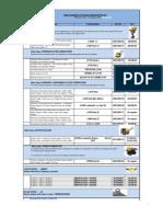 LCC Price List 2012 From 1st. Jan 2012