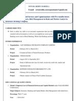 Eswara Reddy Banking Resume
