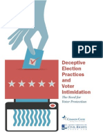 Deceptive Election Practices and Voter Intimidation - July 2012