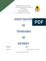 Investigación de Tecnologia de Internet
