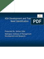 KSA Development and Training Need Identification Presentation