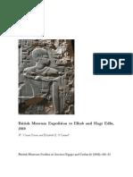British Museum Expedition to Elkab and Hagr Edfu