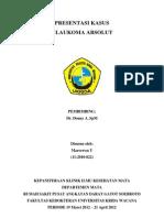 Presentasi Kasus Glaukoma Absolut