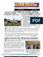 Bulletin Monday 26th July 2010
