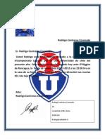 Carta de correspondencia