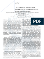 A Novel Statistical Method for Thermostable Proteins Discrimination