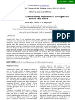 Pharmacognostical and Preliminary Phytochemical Investigation of Embelia ribes Burm f