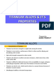 Titanium Alloys and Its Properties
