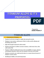 Titanium Alloys and Its Properties