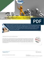 White Paper on QA Standards And Process In Development Scenarios