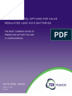 Charge Control Options for Valve Regulated Lead Acidbatteries