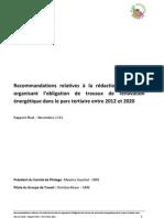 Rapport Renovation Parc Tertiaire