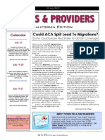 Payers & Providers California Edition – Issue of July 12, 2012