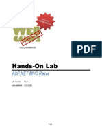 Hands-On Lab - ASP.net Mvc Razor