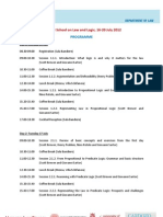 Programme law and logic 2012