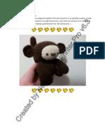 Amigurumi Monkey Pattern
