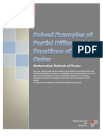 Solved Examples of Partial Differential Equations of Second Order