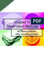 BR - Chapter 11 Observation Methods