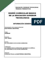 DISEÑO CURRICULAR DE ELECTRONICA INDUSTRIAL