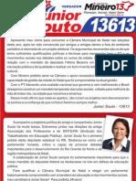 Panfleto Campanha Júnior Souto Vereador