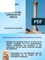 El Estudio Del Lenguaje en Grecia