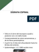 DISRAFIA ESPINAL